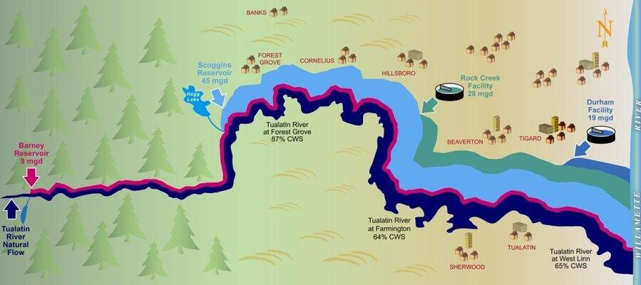 Tualatin River fishing map